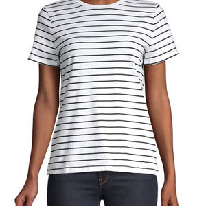 Lord & Taylor Petite Short-Sleeve Striped Top